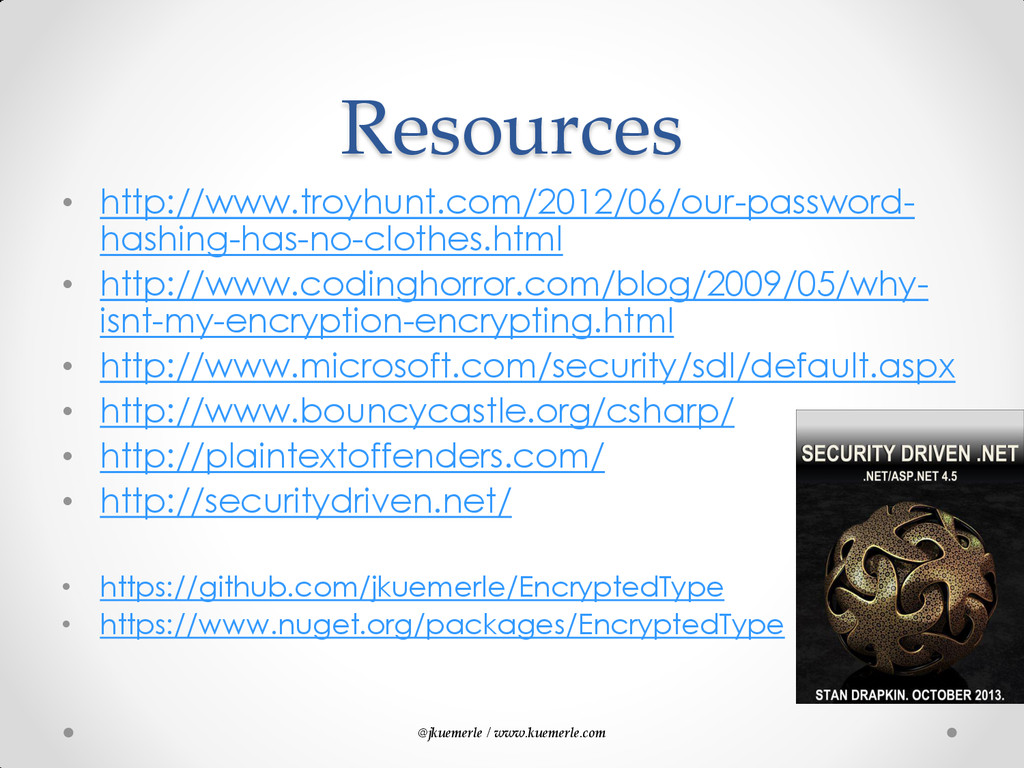 @jkuemerle / www.kuemerle.com Resources • http:...
