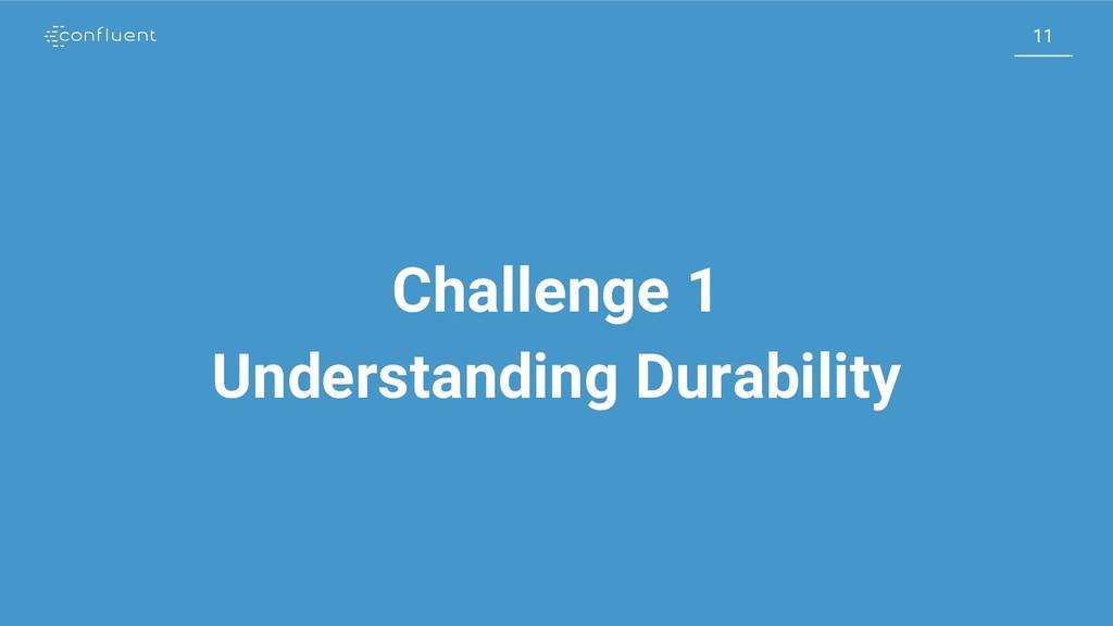 11 11 Challenge 1 Understanding Durability
