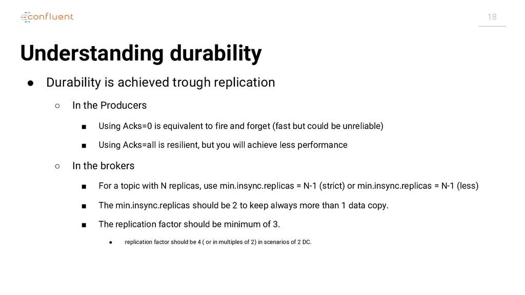 18 Understanding durability ● Durability is ach...