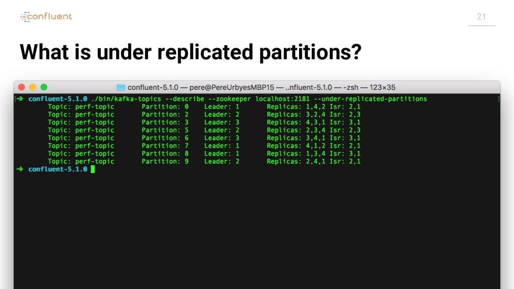 21 What is under replicated partitions?