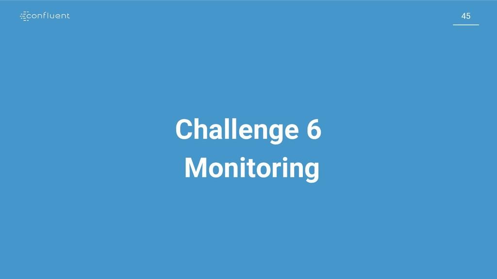 45 45 Challenge 6 Monitoring