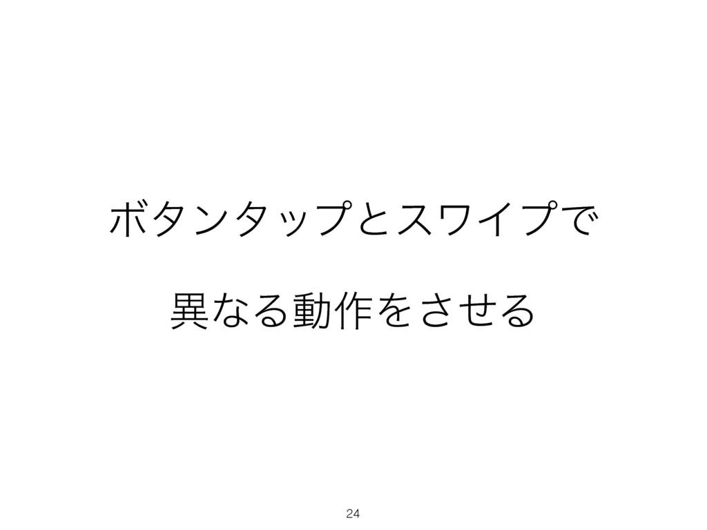 24 ϘλϯλοϓͱεϫΠϓͰ ҟͳΔಈ࡞Λͤ͞Δ