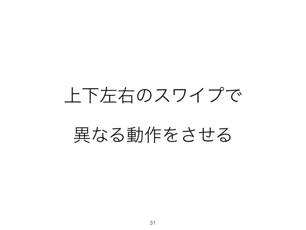 31 ্ԼࠨӈͷεϫΠϓͰ ҟͳΔಈ࡞Λͤ͞Δ