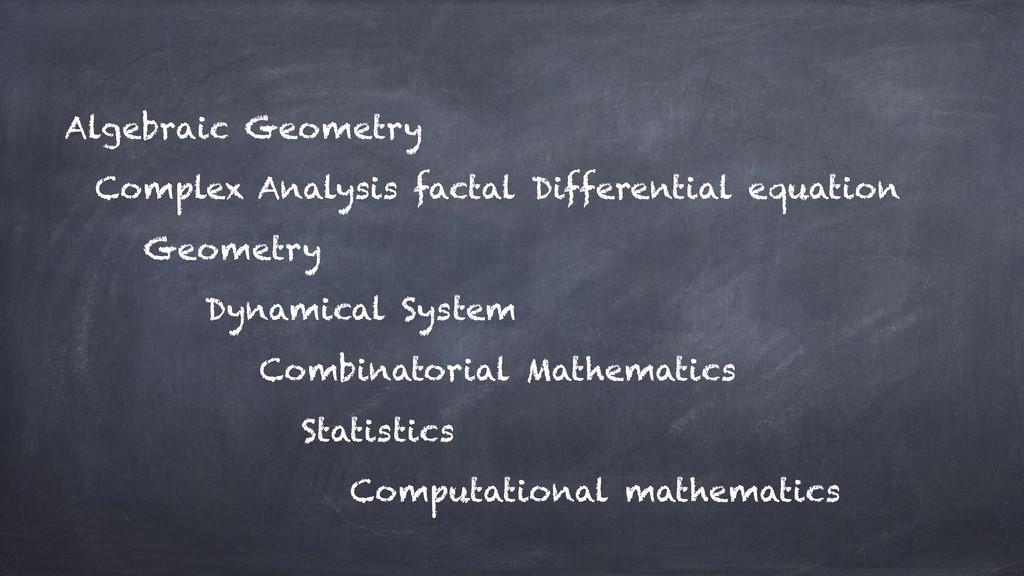 Algebraic Geometry Complex Analysis factal Diff...