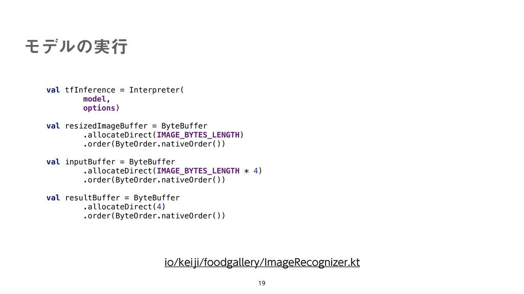 val tfInference = Interpreter( model, options) ...