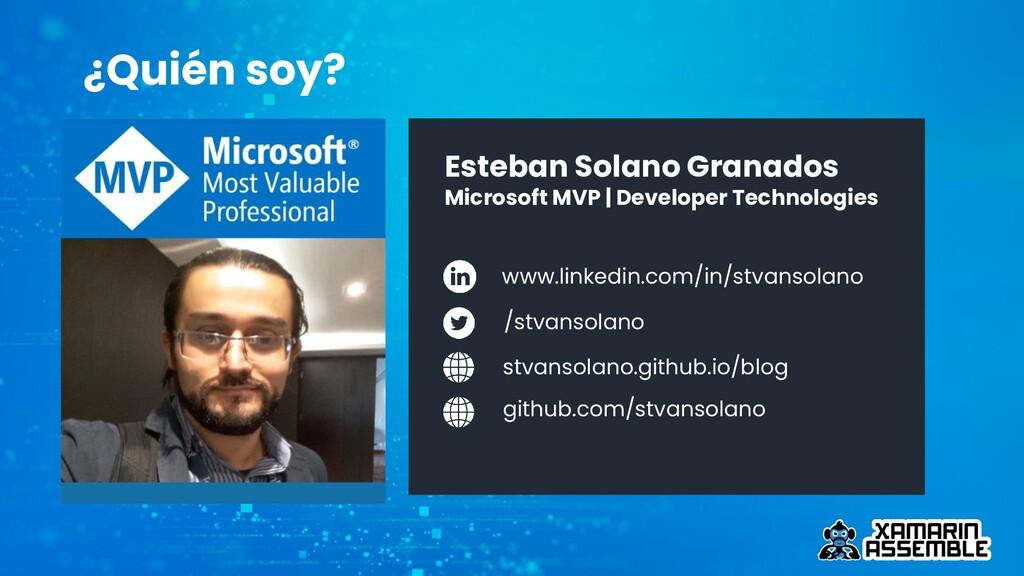 Esteban Solano Granados Microsoft MVP   Develop...