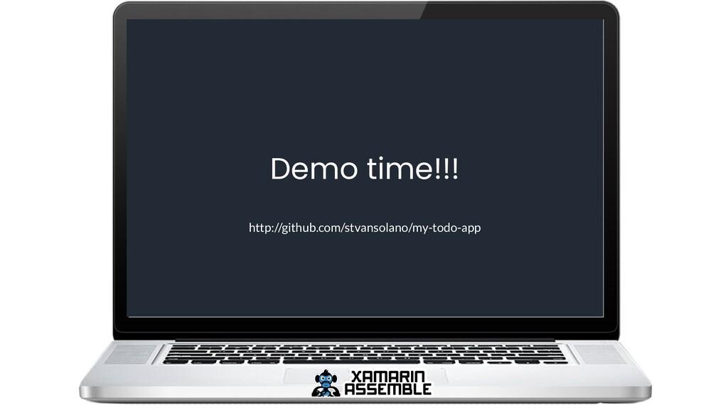 Demo time!!! http://github.com/stvansolano/my-t...