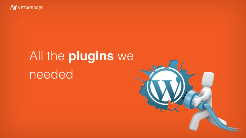 All the plugins we needed