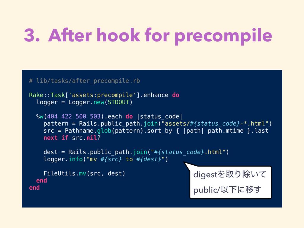 3. After hook for precompile # lib/tasks/after_...