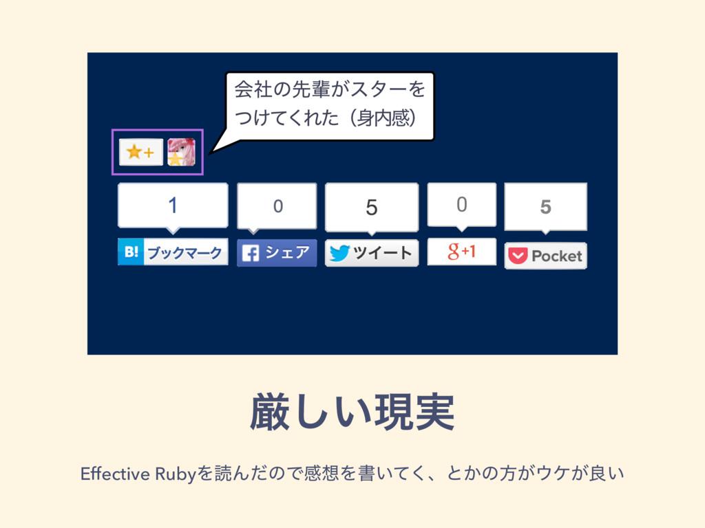 ݫ͍͠ݱ࣮ Effective RubyΛಡΜͩͷͰײΛॻ͍ͯ͘ɺͱ͔ͷํ͕έ͕ྑ͍ ձࣾ...