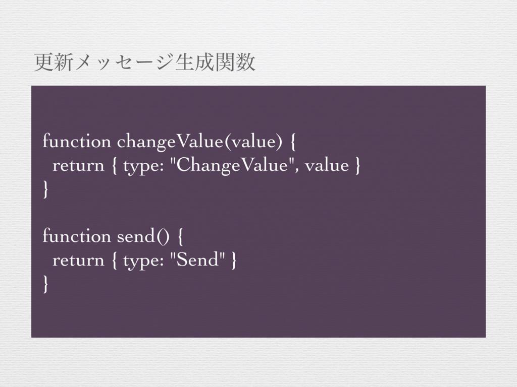 ߋ৽ϝοηʔδੜؔ function changeValue(value) { retur...