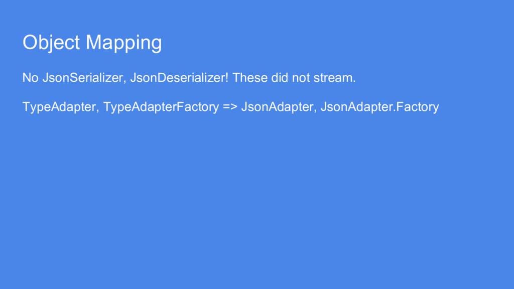 Object Mapping No JsonSerializer, JsonDeseriali...