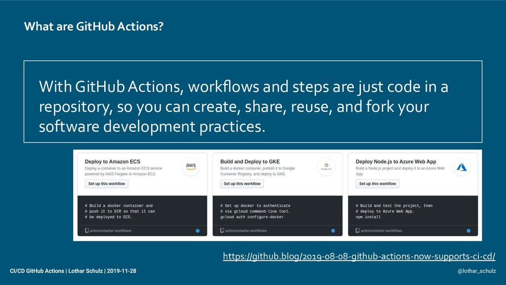 What are GitHub Actions? With GitHub Actions, w...