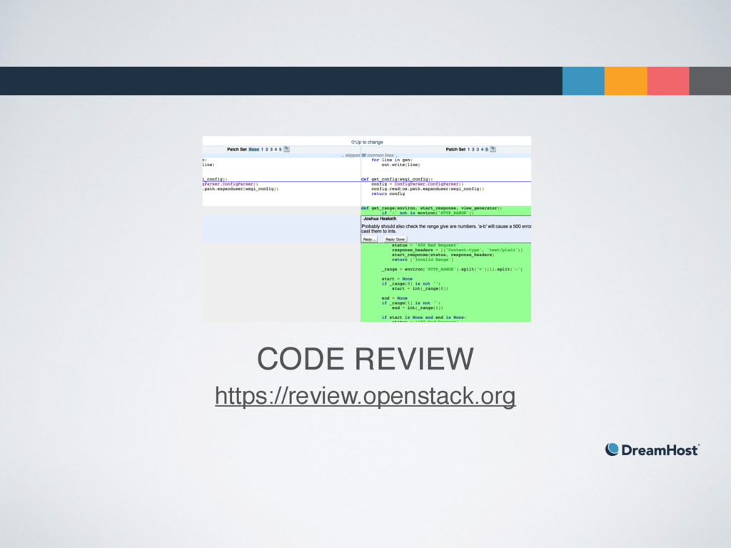 CODE REVIEW https://review.openstack.org