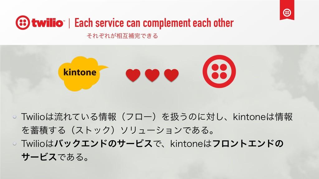 Each service can complement each other ͦΕͧΕ͕૬ޓิ...