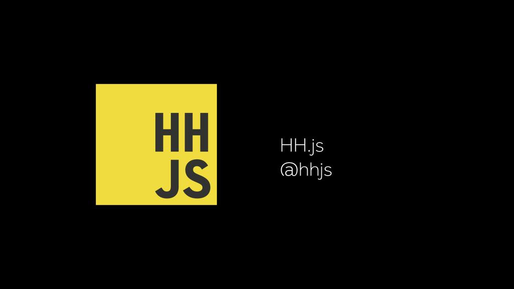 HH.js @hhjs