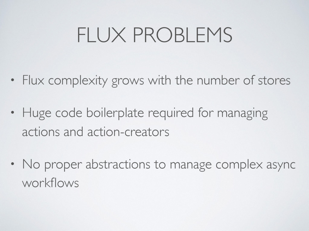 • Flux complexity grows with the number of stor...
