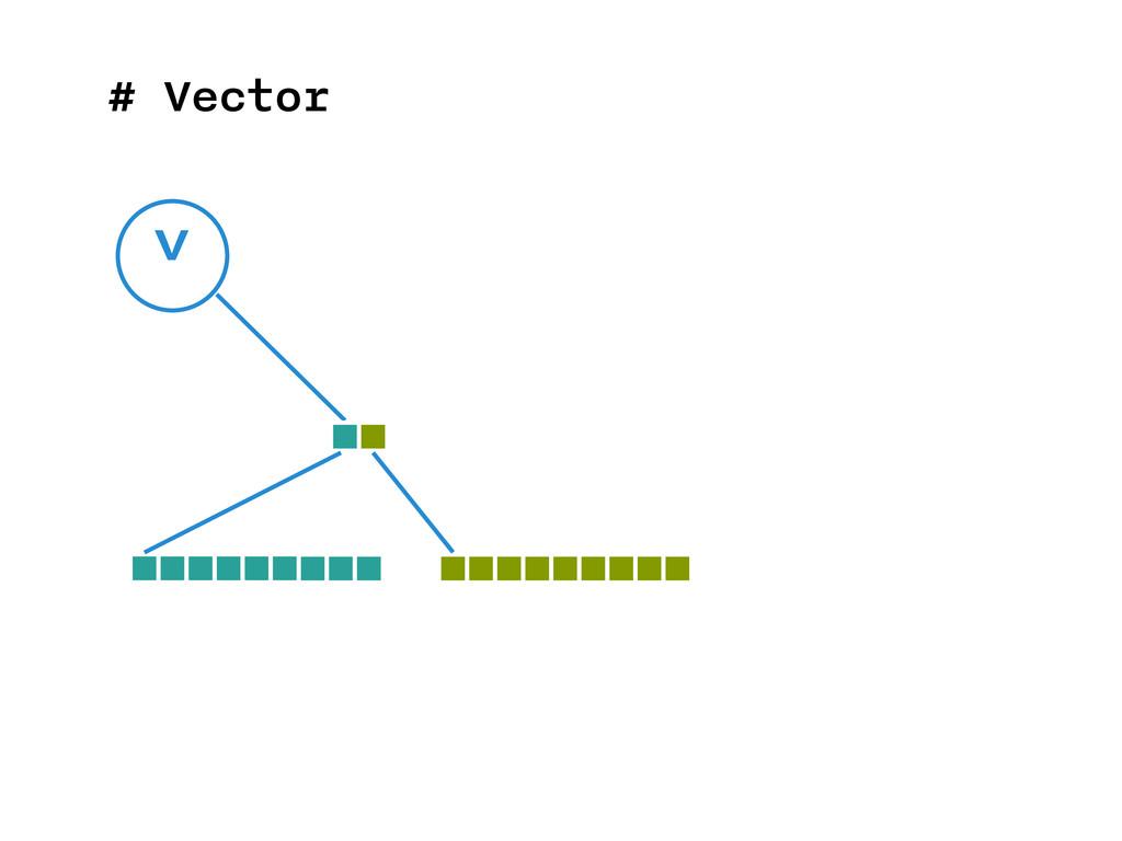 # Vector v