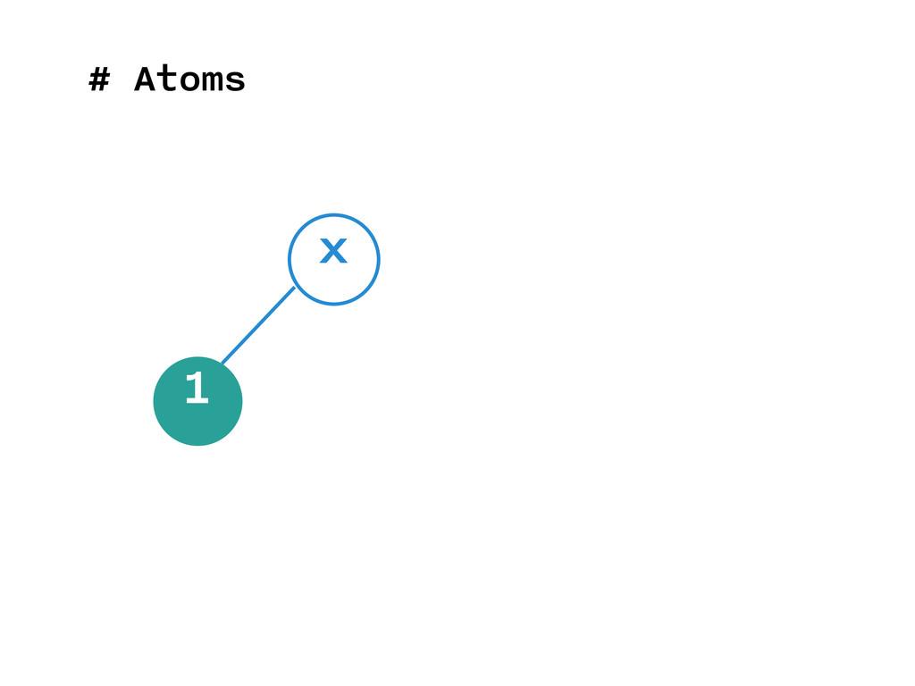 # Atoms 1 x