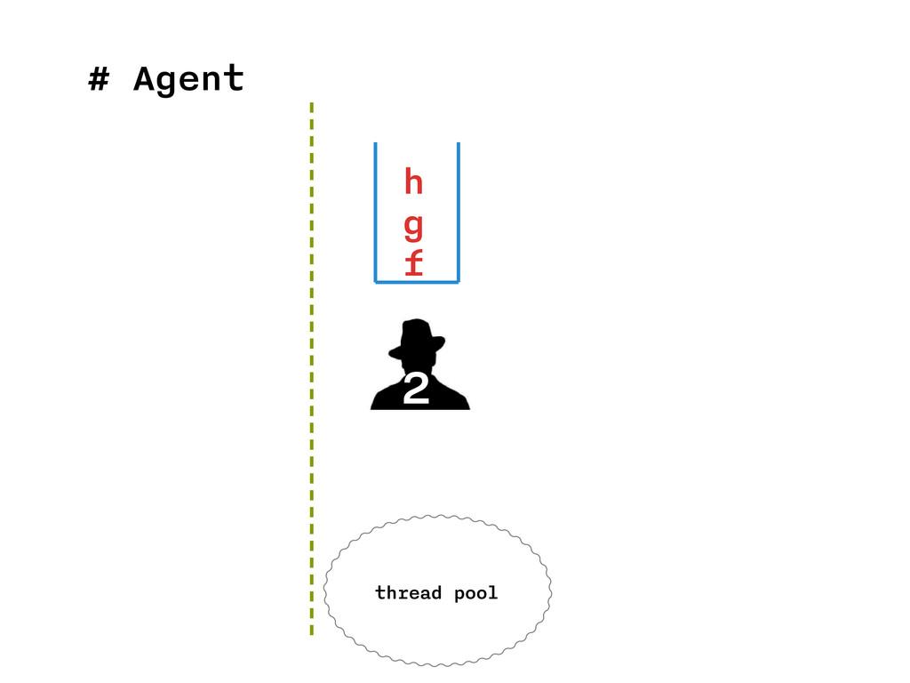 # Agent 2 h g f thread pool