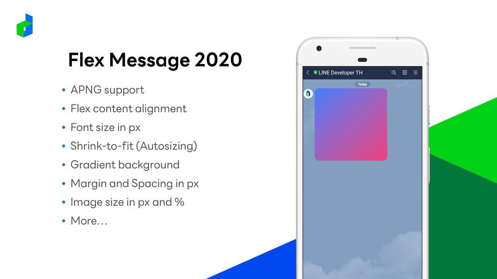 Flex Message 2020 ● APNG support ● Flex content...