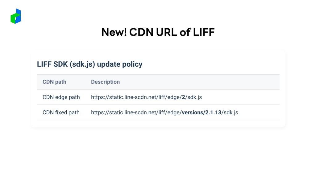 New! CDN URL of LIFF