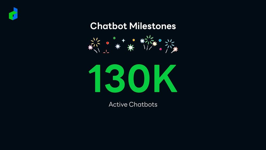 Chatbot Milestones 130K Active Chatbots