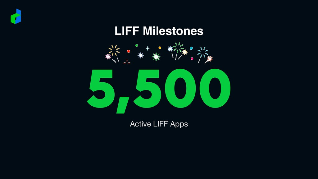 LIFF Milestones 5,500 Active LIFF Apps