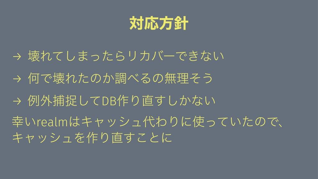 ରԠํ → յΕͯ͠·ͬͨΒϦΧόʔͰ͖ͳ͍ → ԿͰյΕͨͷ͔ௐΔͷແཧͦ͏ → ྫ֎ั...