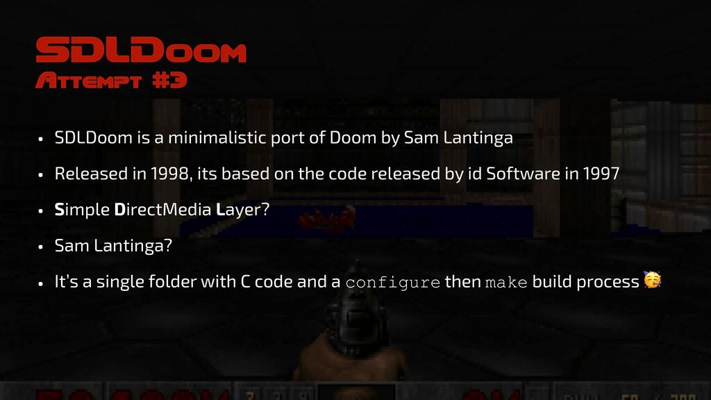 SDLDoom Attempt #3 • SDLDoom is a minimalistic ...