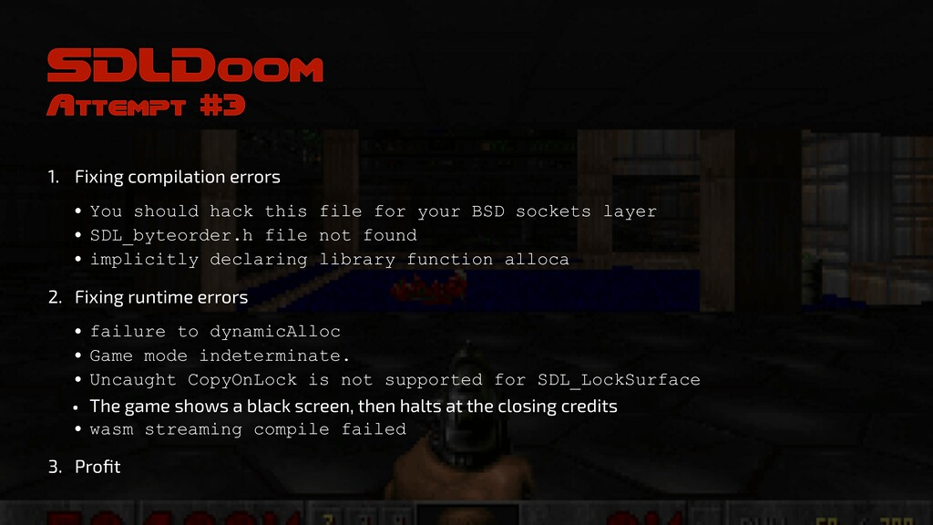 SDLDoom Attempt #3 1. Fixing compilation errors...
