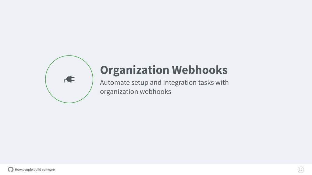 How people build software Organization Webhooks...