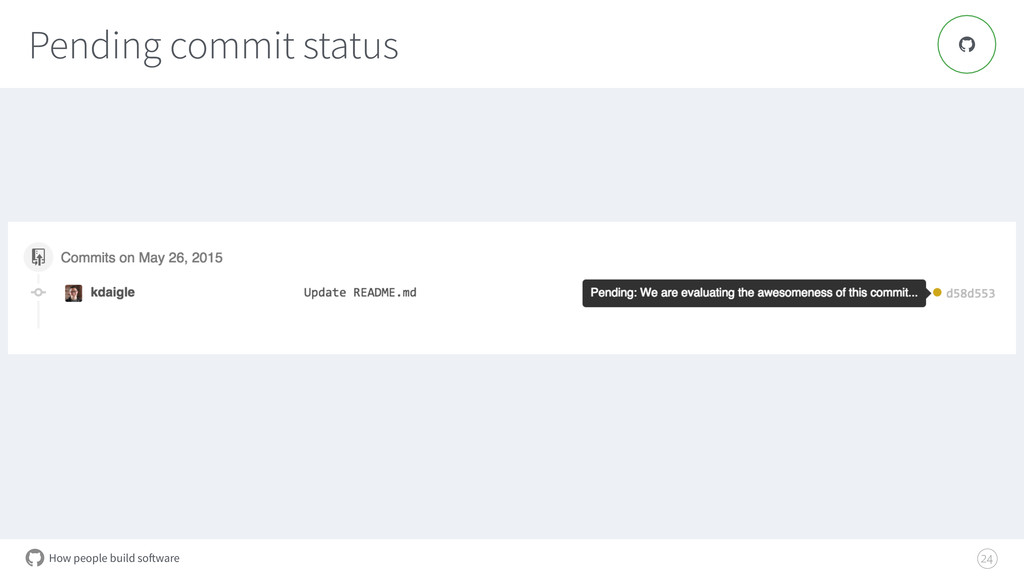 How people build software Pending commit status...