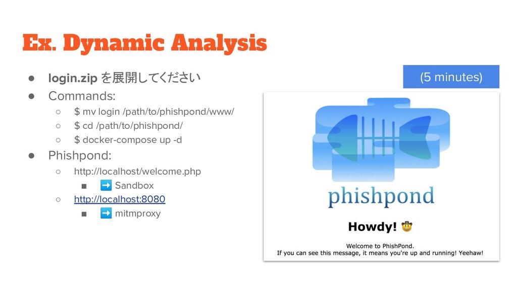 Ex. Dynamic Analysis ● login.zip を展開してください ● Co...