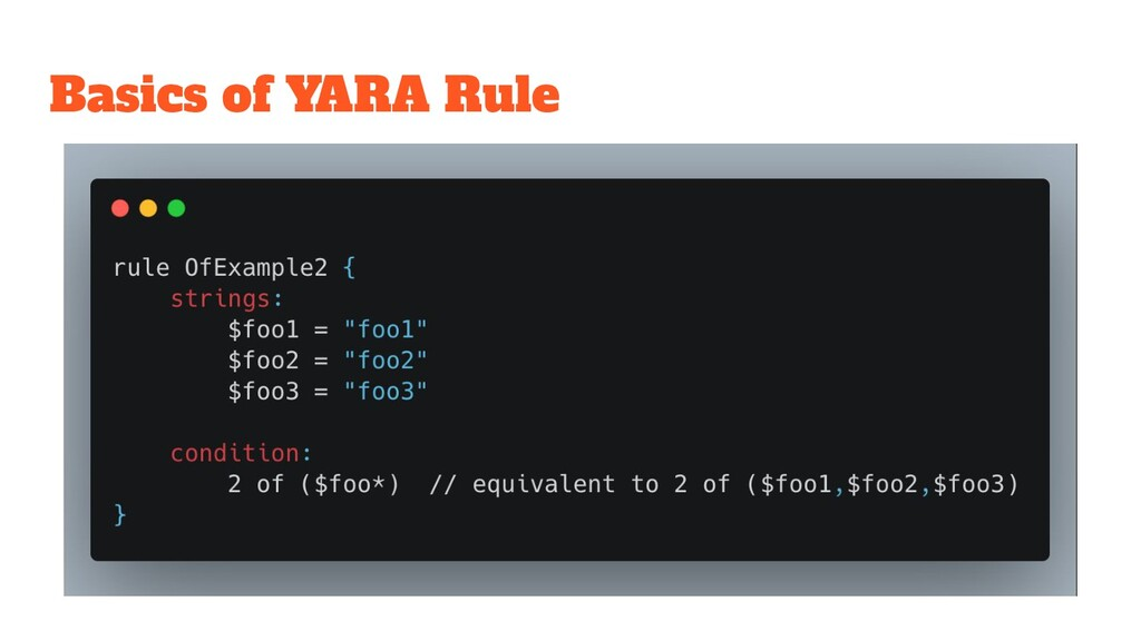 Basics of YARA Rule