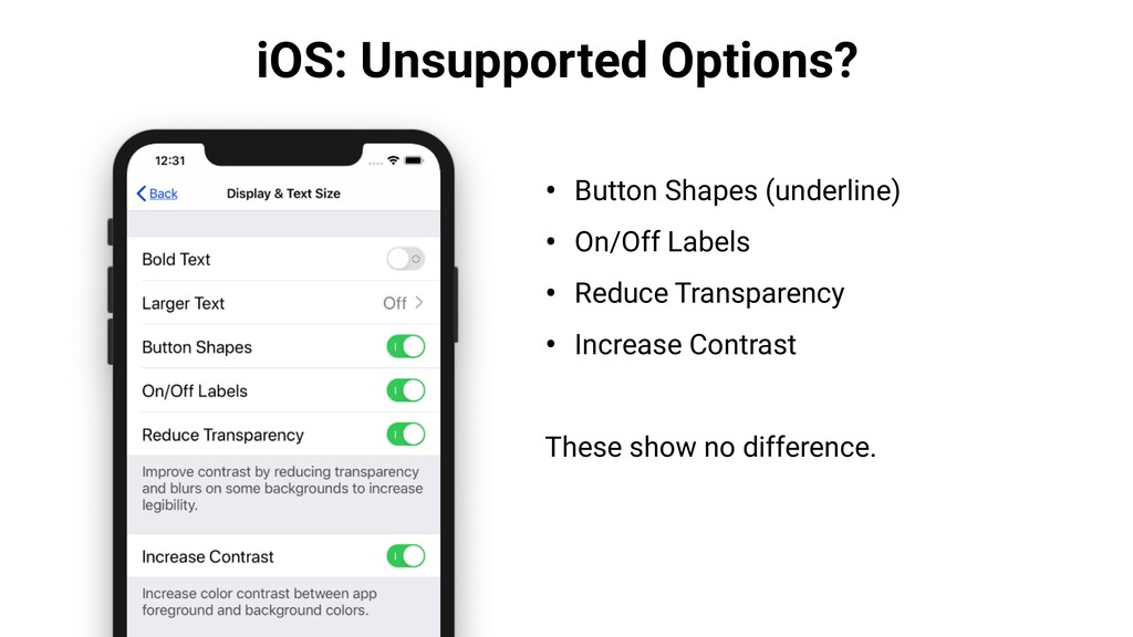 iOS: Unsupported Options? • Button Shapes (unde...