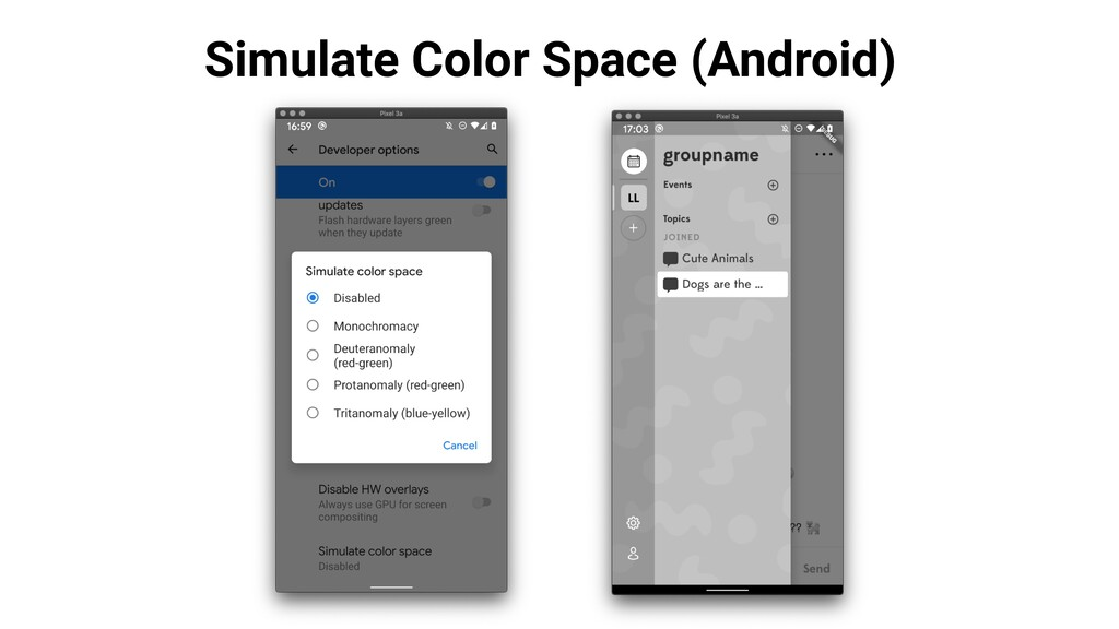 Simulate Color Space (Android)