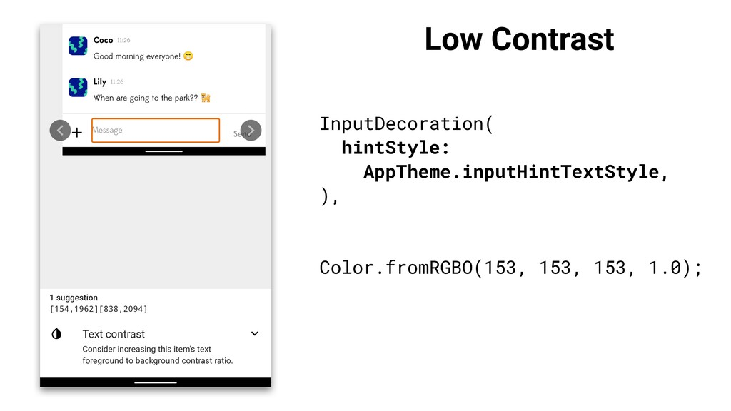 Low Contrast InputDecoration( hintStyle: AppThe...
