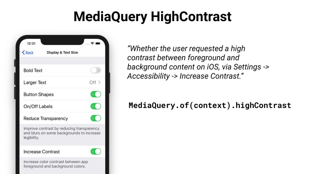 "MediaQuery HighContrast ""Whether the user reque..."