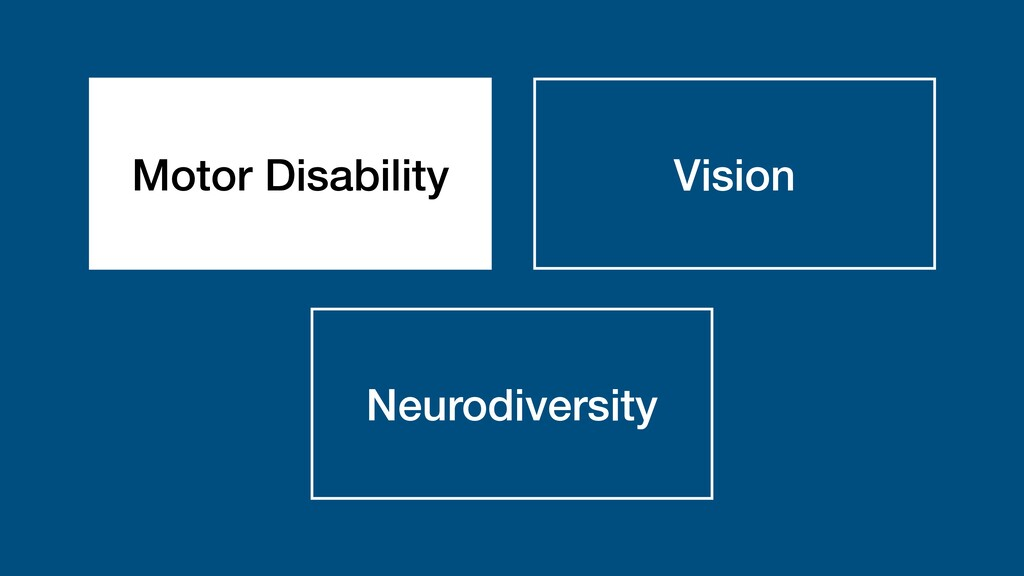 Motor Disability Vision Neurodiversity