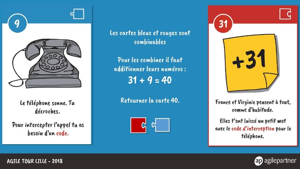 AGILE TOUR LILLE - 2018 Les cartes bleus et rou...