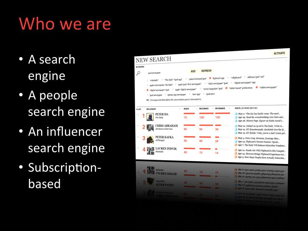 Who we are  • A search  engine...