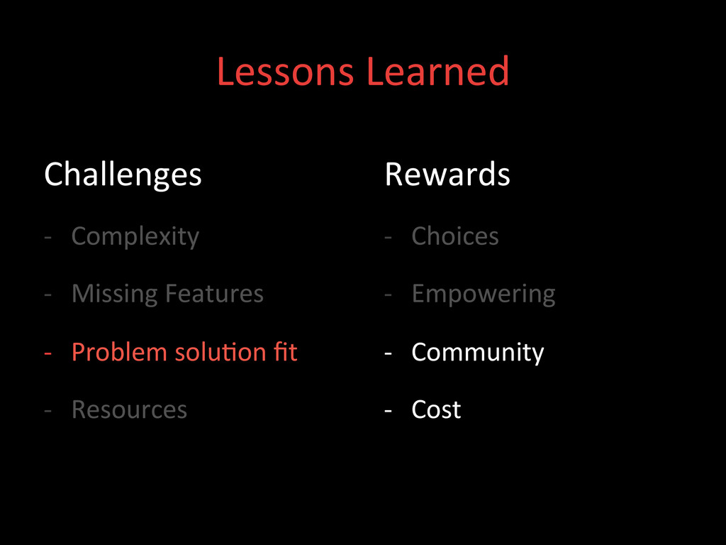 Lessons Learned  Challenges  -‐ Comp...