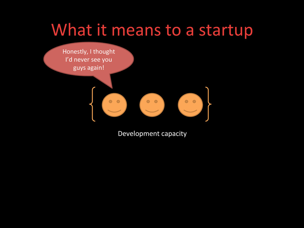 What it means to a startup  D...