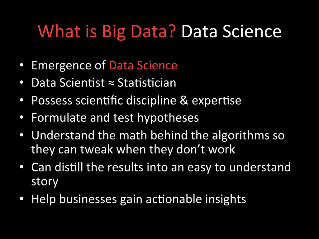 What is Big Data? Data Science...
