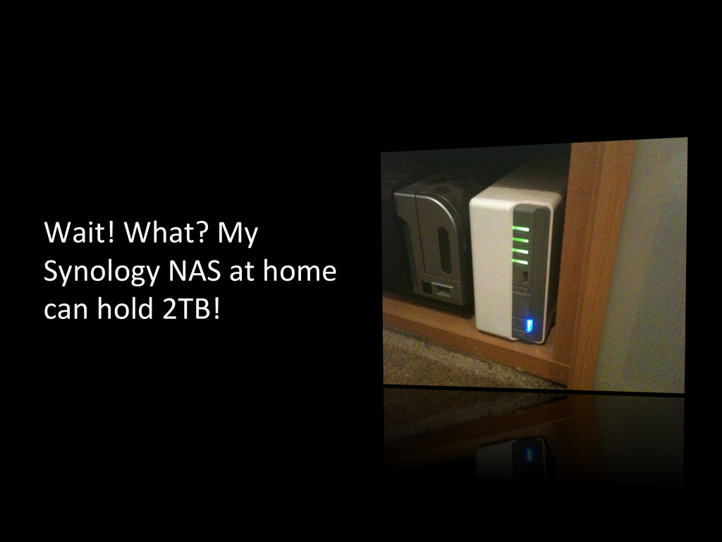 Wait! What? My  Synology NAS at...