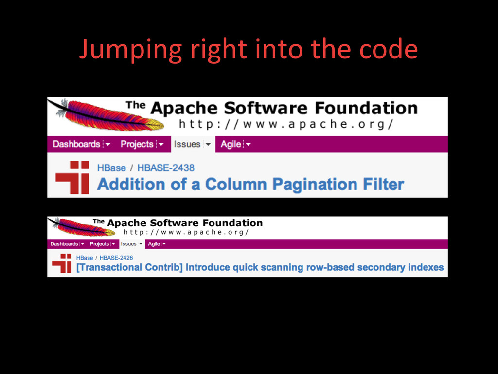 Jumping right into the code