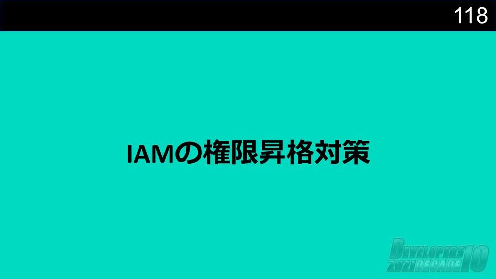 118 IAMの権限昇格対策