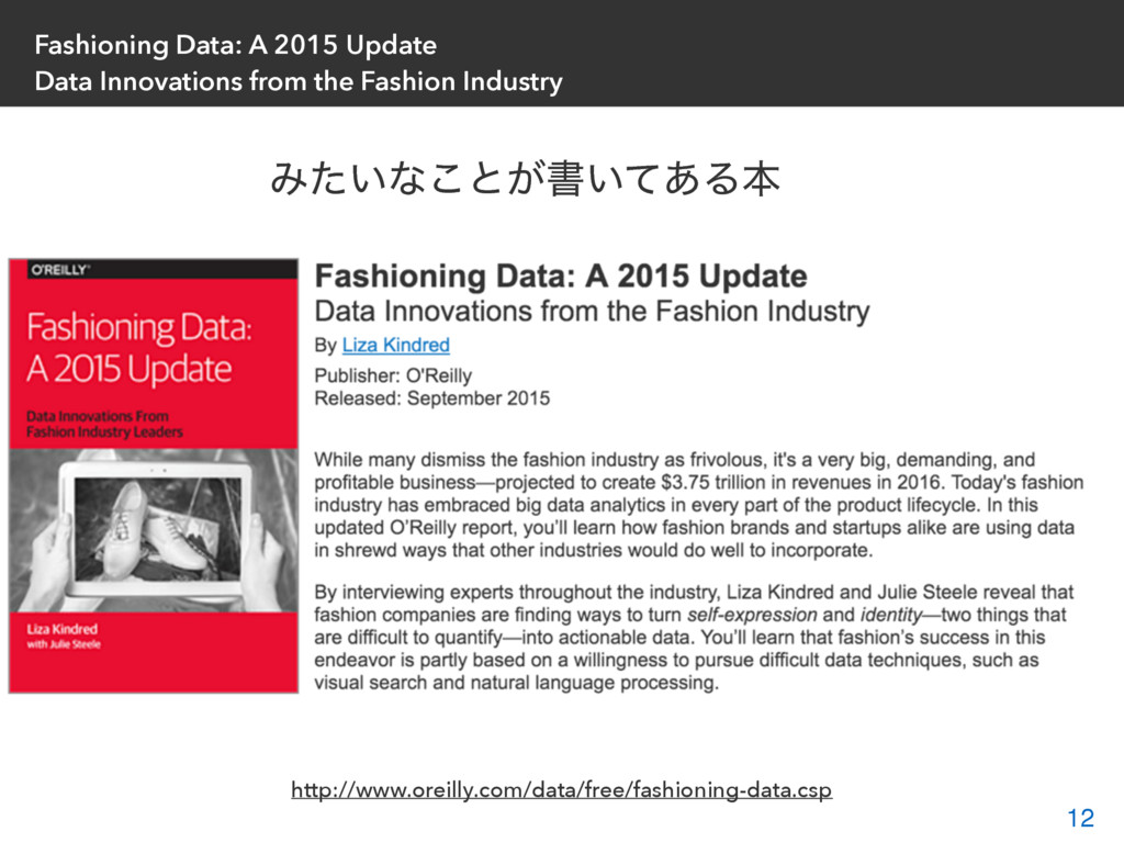 Fashioning Data: A 2015 Update Data Innovations...