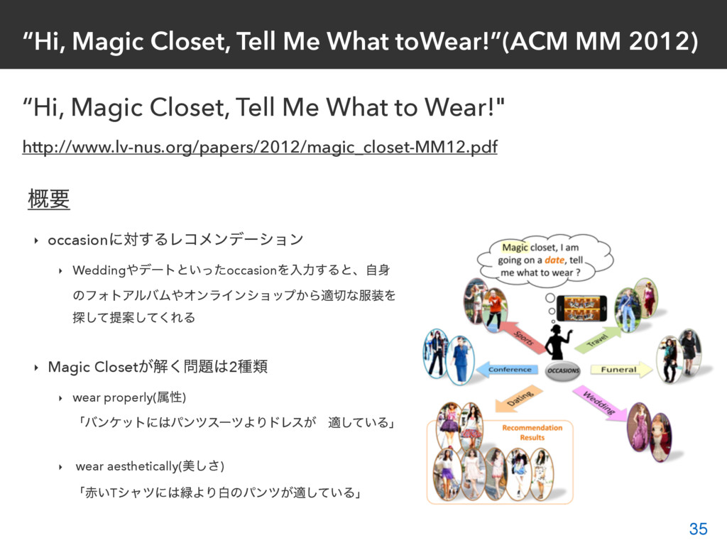 """Hi, Magic Closet, Tell Me What toWear!""(ACM MM..."